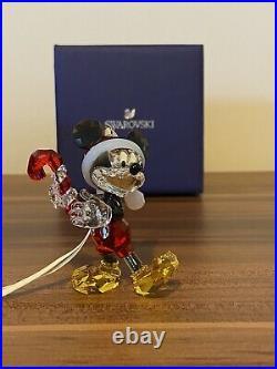 Disney Swarovski Crystal Mickey Mouse Christmas Ornament New in Box