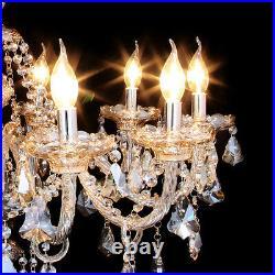 E12 Elegant Crystal Candle Decoration Chandelier Pendant Ceiling Light 10 Lamps
