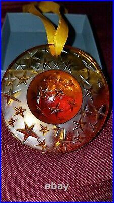 ESTATE LIQUIDATION LALIQUE set of 3 CONSTELLATION CHRISTMAS ORNAMENTS