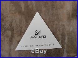 EXCELLENT Swarovski Crystal 1999 SNOWFLAKE Annual Christmas Ornament Box & COA