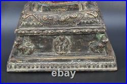 Early 20th C Tibet Crystal Antique Buddhist Stupa Tibetan Rare Shrine Decoration