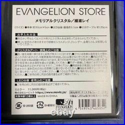 Evangelion EVA STORE limited Original Memorial Crystal Rei Ayanami RARE