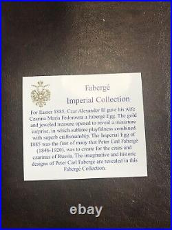Faberge Imperial Collection Set Of 6 Crystal Palace Egg Ornaments. New In Box