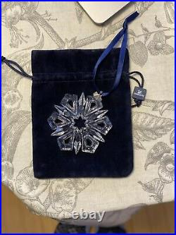 Fine Swarovski Crystal Snowflake Star Christmas Holiday Ornament 1999