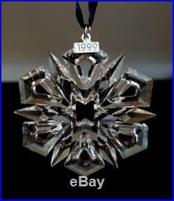 Fine Swarovski Crystal Snowflake Star Christmas Ornament 1999