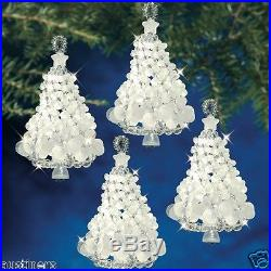 Frosted Crystal Twist Trees Beaded Christmas Ornament Kit Beadery 7213