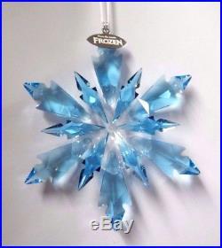 Frozen Snowflake Ornament 2017 Disney Aqua Blue Xmas Swarovski Crystal 5286457