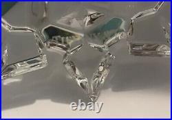 Genuine Tiffany & Co 2011 Crystal Snowflake Christmas Ornament with Dust Bag & Box