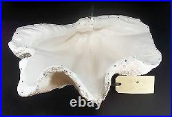 Giant Clam Shell Sculpture Ornament Bowl Encrusted Crystal Gems celebration gift