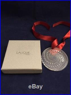 Gorgeous Signed Lalique Crystal 2012 Etoile Filante Christmas Ornament