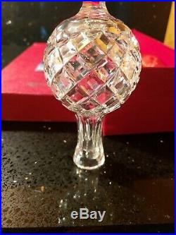 Gorgeous Waterford Ireland Crystal Christmas Tree Topper With Original Box