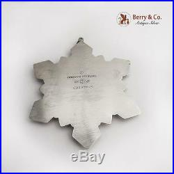 Gorham Millennium Snowflake 2001 Christmas Ornament Sterling Silver Crystal