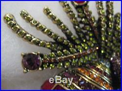 HEIDI DAUS Holiday Ornamental Christmas Bulb Duo Pin (Orig. $249.95)