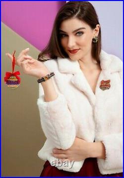 HEIDI DAUS Season Of Splendor Crystal Beaded Ornament Pin NWT