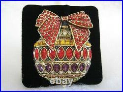 HEIDI DAUS Season Of Splendor Crystal Ornament Pin (Orig. $239.95)