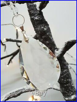Hanging Crystal Clear Jewel Droplet xmas tree Bauble Decoration 22.9cm LONG