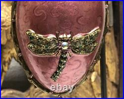 JAY STRONGWATER Egg Shaped Ornament With Swavorski Crystals 2002