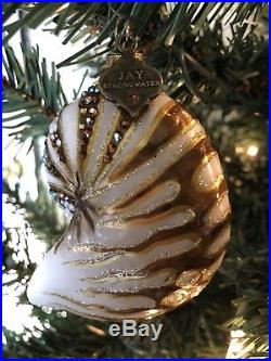 JAY STRONGWATER Glass Ornament WITH SWAROVSKI CRYSTALS! Christmas or Year Round