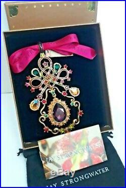 Jay Strongwater 1014 Annual Christmas Ornament Swarovski Crystal. NWB