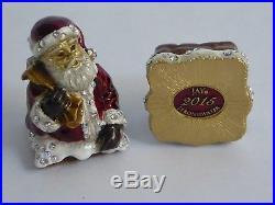 Jay Strongwater 2015 Christmas Santa Trinket Box Swarovski Crystal BNIB