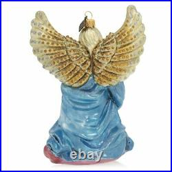 Jay Strongwater Angel Kneeling Glass Ornament #sdh2326-250 Brand Nib Save$$ F/s