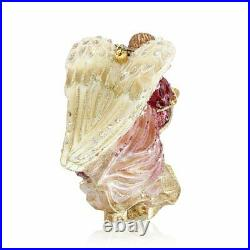 Jay Strongwater Angel With Harp Glass Ornament #sdh20009-216 Brand Nib Save$ F/s
