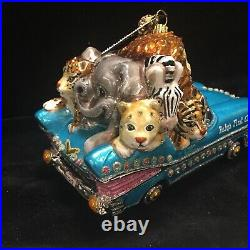 Jay Strongwater Babys First Christmas 2017 Ornament Animals Car 57 Chevy Glass