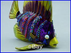 Jay Strongwater Bejeweled Sailfin Fish Christmas Ornament Swarovski Crystal