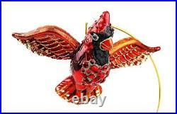 Jay Strongwater Bird Siam Cardinal Glass Ornament Swarovski New No Stand