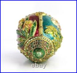 Jay Strongwater Botanical Egg Glass Ornament Never Used No Box