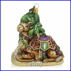 Jay Strongwater Camel And Pyramid Glass Ornament #sdh2334-250 Brand Nib Save$ Fs