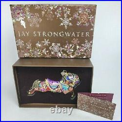Jay Strongwater Carousel Horse with Swarovski Crystals Christmas Ornament
