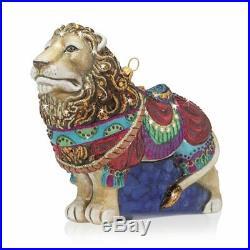 Jay Strongwater Carousel Lion Glass Ornament #sdh2275-250 Brand Nib Save$$ F/sh
