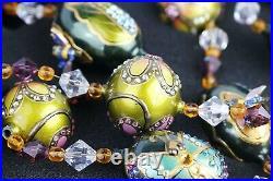 Jay Strongwater Great 64 Bee Glass Garland Ornament Swarovski Used Original Box