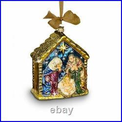 Jay Strongwater Holy Family Glass Ornament #sdh2107-250 Brand Nib Save$$ F/sh