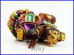 Jay Strongwater Jubilee Camel Glass Ornament Swarovski Brand New Box