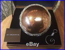 Jay Strongwater Large Globe Christmas Ornament with Swarovski Crystals 2002 Brown