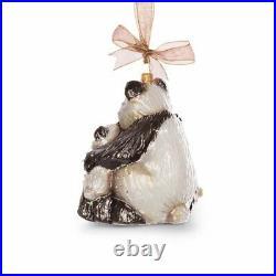 Jay Strongwater Mother & Baby Panda Glass Ornament #sdh2247-280 Brand Nib F/sh