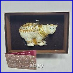 Jay Strongwater Polar Bear with Swarovski Crystals Christmas Ornament