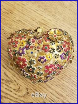 Jay Strongwater RARE Pink Blossom Pig swarovski crystal Christmas Tree Ornament