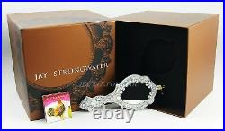 Jay Strongwater Silver Hand Mirror Glass Ornament Swarovski New Extremely Rare