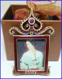 Jay Strongwater Small Red Picture Frame Tree Ornament Swarovski Crystals