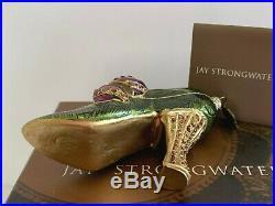 Jay Strongwater Swarovski Crystals 2003 Christmas Shoe Ornament