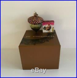 Jay Strongwater Swarovski Crystals Acorn Christmas Ornament
