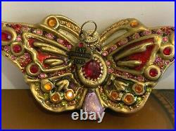 Jay Strongwater Swarovski Crystals Butterfly Christmas Ornament