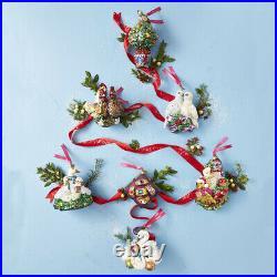 Jay Strongwater Three French Hens Glass Ornament #sdh2240-280 Brand Nib F/sh