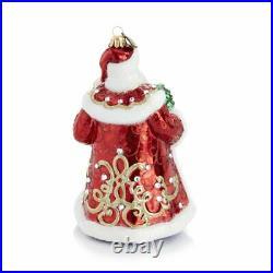 Jay Strongwater Victorian Santa Glass Ornament #sdh20010-250 Brand Nib Save$ F/s