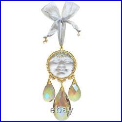 Kirks Folly Seaview Moon Goddess Tears Ornament goldtone / crystal moon
