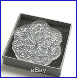 LALIQUE 2002 OMBELLES UMBELAS CLEAR CRYSTAL CHRISTMAS NOEL ORNAMENT with BOX