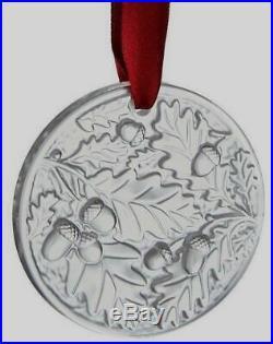 LALIQUE 2016 Chene Oak Crystal Christmas Tree Annual Ornament New in Box NIB